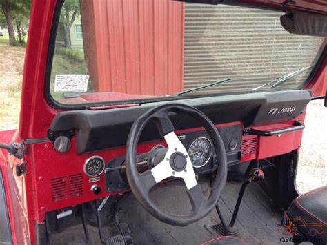 jeep red interior jeep cj7 1981 red exterior rino lined interior new