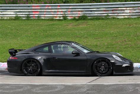 black porsche 911 gt3 spyshots 991 porsche 911 gt3 autoevolution