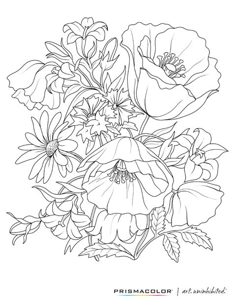 what a beautiful flower adult coloring page colouring