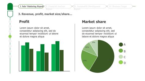 green presentation template business report powerpoint template slidesbase
