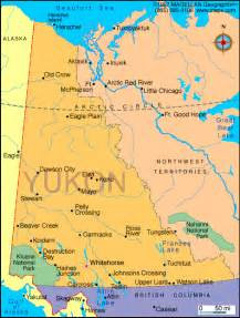 map of the yukon territory in canada atlas yukon territory