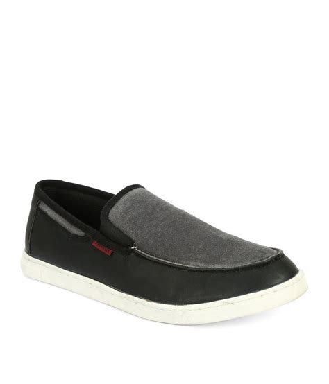 provogue slipon shoe sneakers black casual shoes