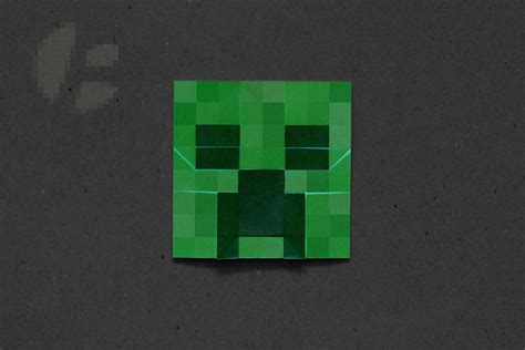 Origami Minecraft - pin minecraft creeper bottle with green origami cake