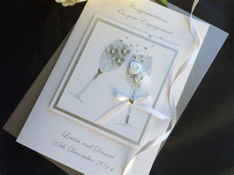 Handmade Luxury Cards - luxury handmade engagement cards handmade cardspink posh
