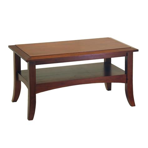 Pine Wood Coffee Table Shop Winsome Wood Antique Walnut Pine Coffee Table At Lowes