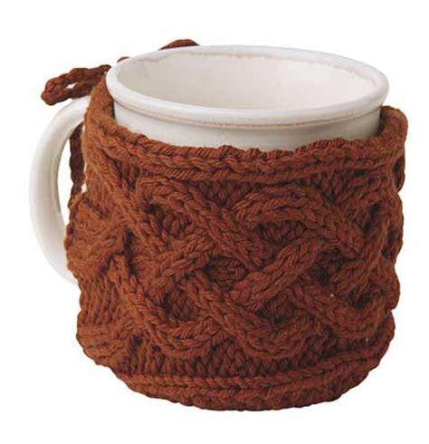 knitted mug cosy free pattern cabled mug cozy pattern knitting patterns and crochet