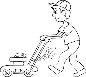 free kid mowing lawn clipart image 0515 1002 2520 2606