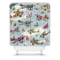 quot takeoff quot large vintage aviation cockpit triptych a b 52 bomber shower curtain airplane wwii military aircraft