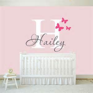 girls name wall decal sticker butterfly decals stickers personalised bedroom vinyl