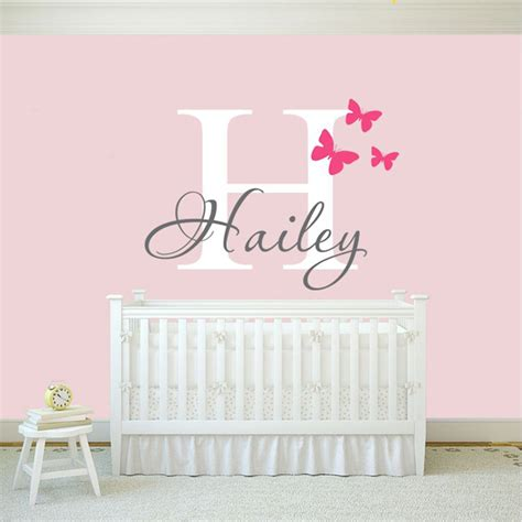 butterflies name wall decal sticker butterfly wall