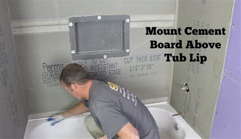 how to install cement board around bathtub bathroom tile over drywall brightpulse us