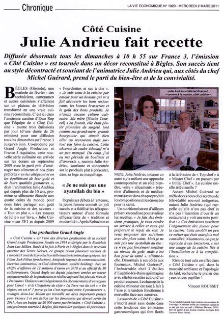 cote cuisine julie andrieu recettes cot 233 cuisine julie andrieu fait recette julie andrieu