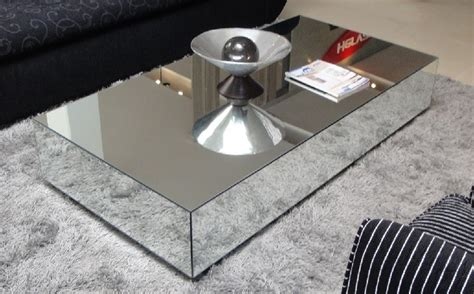 Square Mirrored Contemporary Coffee Table Modern Coffee Table » Home Design 2017
