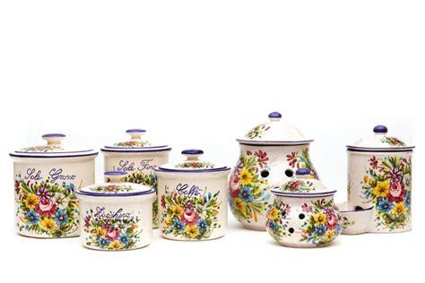 barattoli cucina ceramica set barattoli in ceramica per cucina fioraccio liberati