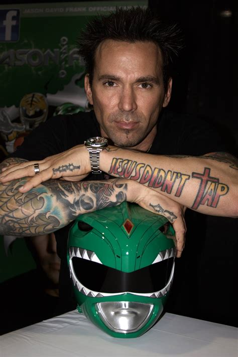 jason david frank tattoos tries to kill green power ranger fails