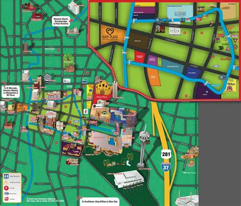 san antonio texas riverwalk map riverwalk san antonio map of restaurants