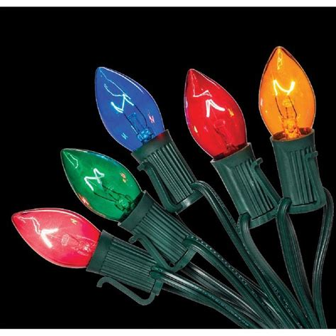 home accents holiday c7 25 light multi color incandescent