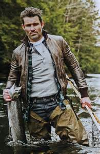 scottie in a canoe rugged looks