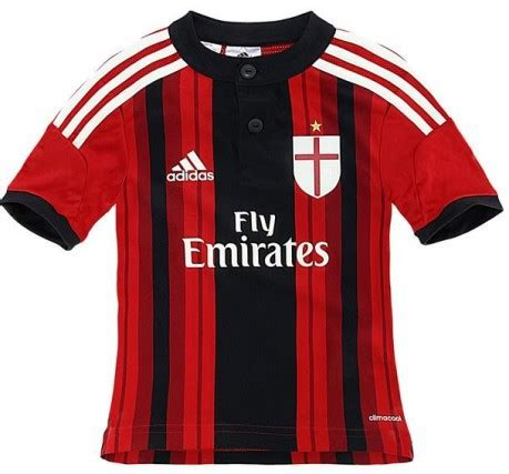 Ac Milan Il Diavolo Rosso T Shirt completo bambino ac milan home colore rosso nero adidas