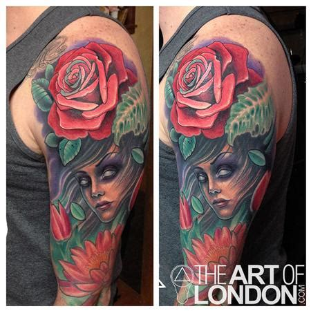 tattoo flower london mother nature rose flowers tattoo by london reese tattoonow