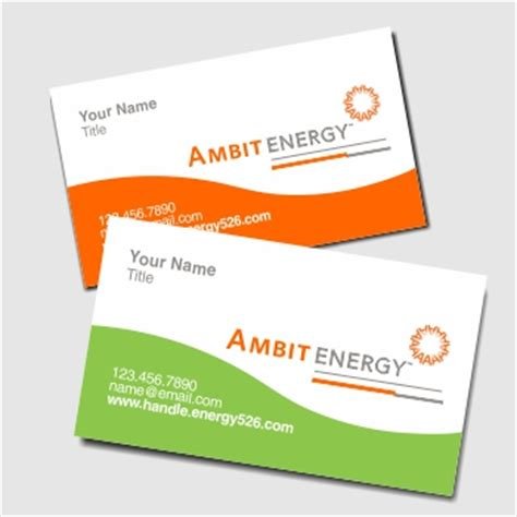 ambit energy business cards by energy tigers team synergy