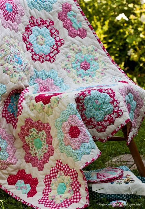 Grandmothers Flower Garden Quilt Hexs Crochet Knit And Grandmother S Flower Garden