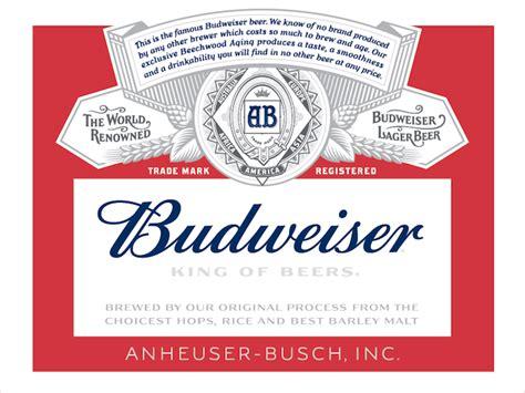 printable budweiser label image gallery budweiser labels