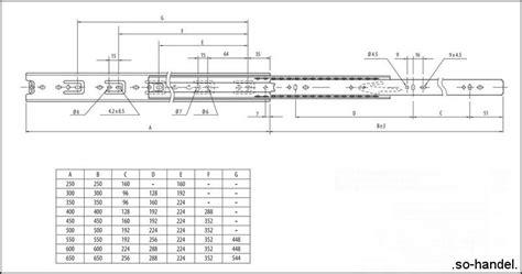 schublade ohne schiene vollauszug vollausz 252 ge 700mm tragkraft 35 45kg