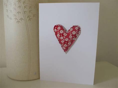 Handmade Hearts - handmade card by caroline watts embroidery