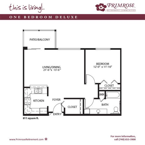retirement floor plans apartment sizes and floor plans for lancaster oh primrose