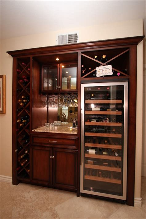 Built In Cabinet Wine Rack by Entertainment Centers Built In Niches Traditional