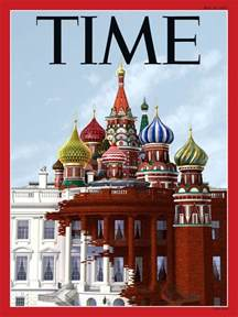 trump white house residence time magazine cover shows trump s white house transforming