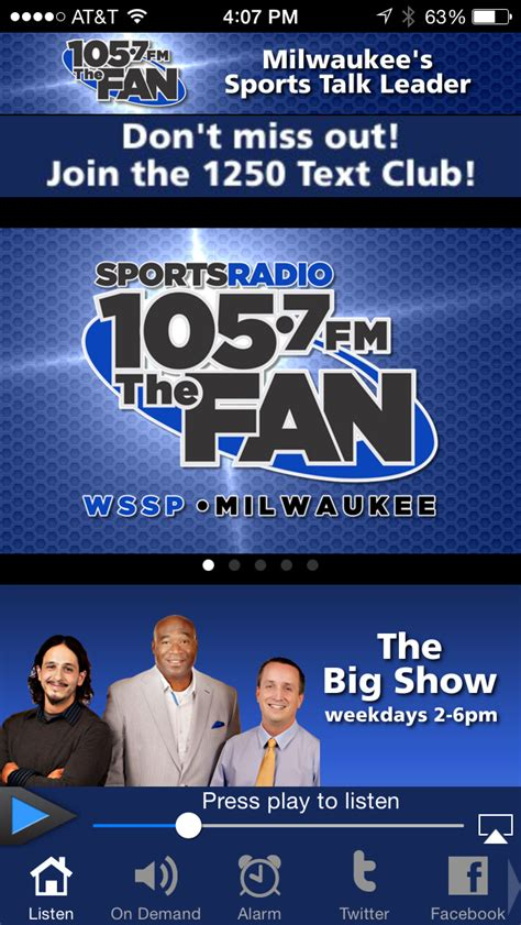listen to 105 7 the fan 105 7 the fan apprecs