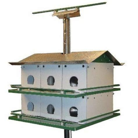 Nature House Trio Castle Purple Martin Bird House 12 Room Complete Safety System Ebay