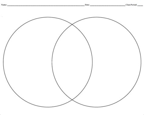 printable venn diagram creating a venn diagram template