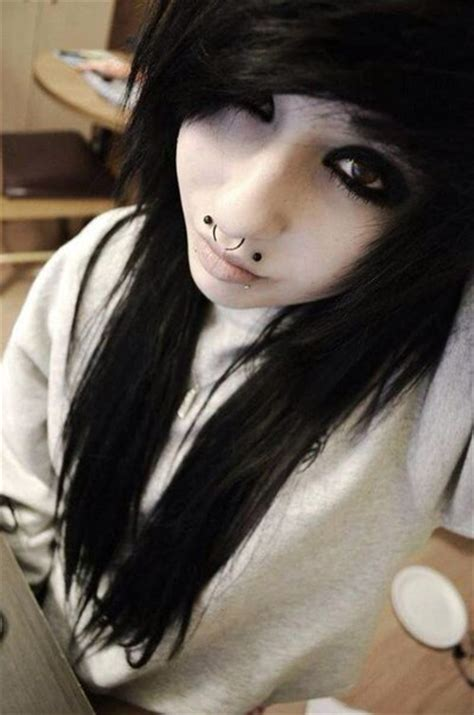 emo hairstyles black and white black hair emo girl gorgeous pretty image 4205829