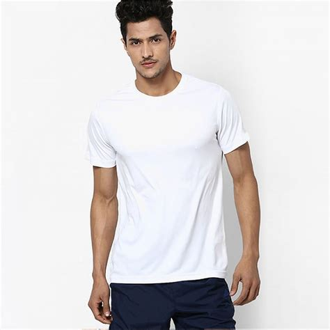 White Rea fruit of the loom plain white 100 cotton sofspun t shirt