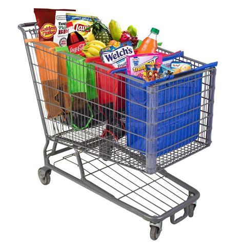 Promo Foldable Shopping Trolley Bag Tas Shopping Troli Lipat 4pcs set shopping cart trolley bags foldable reusable grocery shopping bag eco supermarket bag