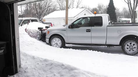 ford  plowing  foot  snow youtube