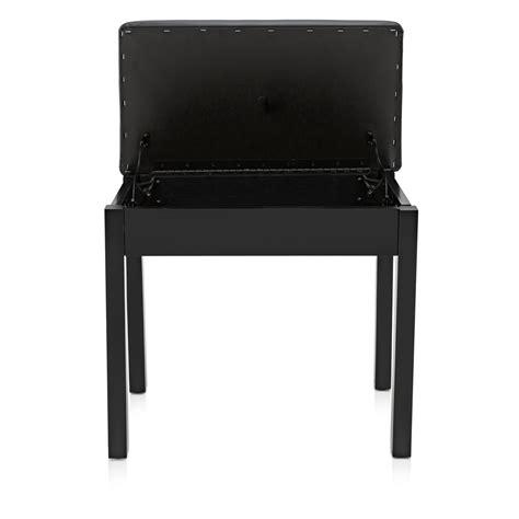 sgabello pianoforte sgabello pianoforte con deposito di gear4music black