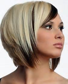 bob hair lowlights layered choppy bob with brown and blonde highlights dark