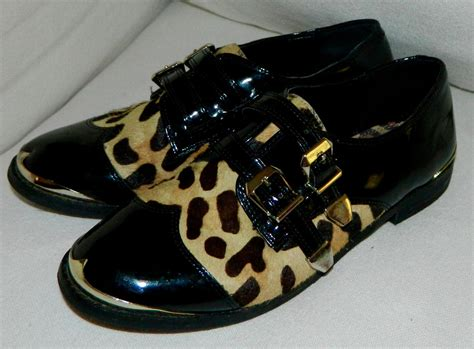 animal print oxford shoes gianni bini sz 5 5 animal leopard print oxford shoes
