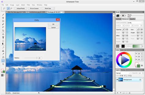artweaver 4 adds tabbed interface new drawing and paint tools