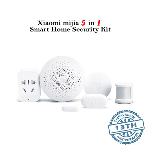 cheap smart home products wholesale xiaomi mijia 5 in 1 smart home security kit from