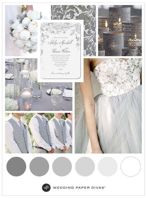 wedding color idea pink and grey white silver oooo now neutral soft gray wedding inspiration shutterfly
