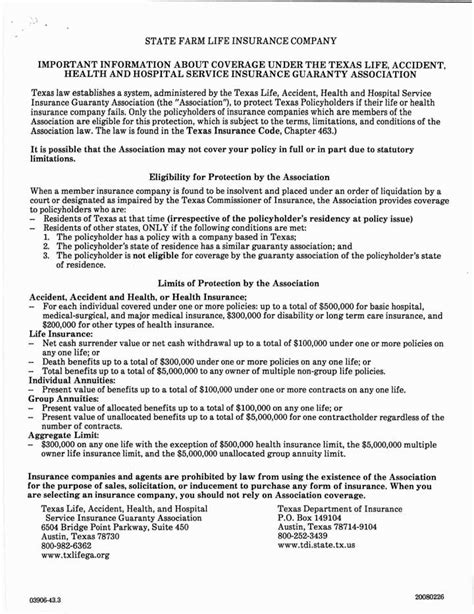 Section 72 Insurance Policy by Appendix C