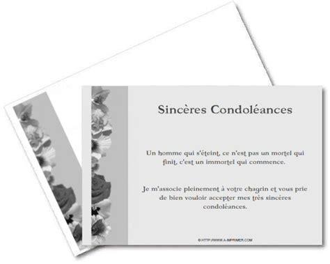 Modeles De Lettre De Condoleances Gratuites Faire Part De Condoleances Gratuit 224 Imprimer A Imprimer