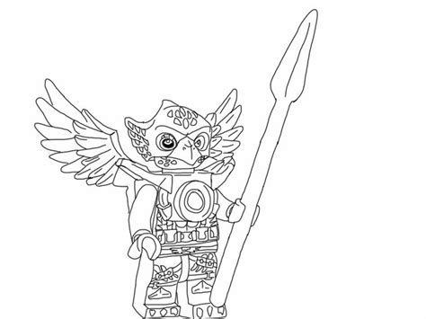 lego chima coloring page eagle kleurplaten