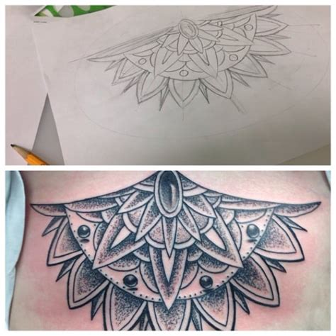 cory james tattoo mandala style done in tx by