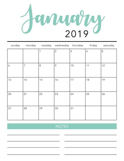 printable calendar template  colors  heart naptime